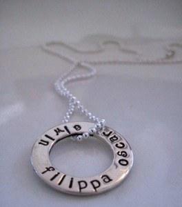 namnamulett i silver