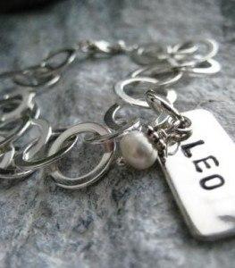 namnarmband i silver