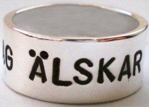 namnring i silver