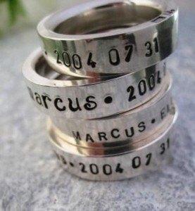namnringar i silver